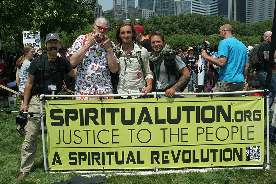 Spiritualution Campaign: protests